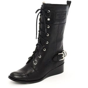 MICHAEL KORS Woodley Lace-Up Wedge Combat Boot